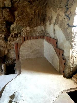 The tiles in the Roman bath at Masada