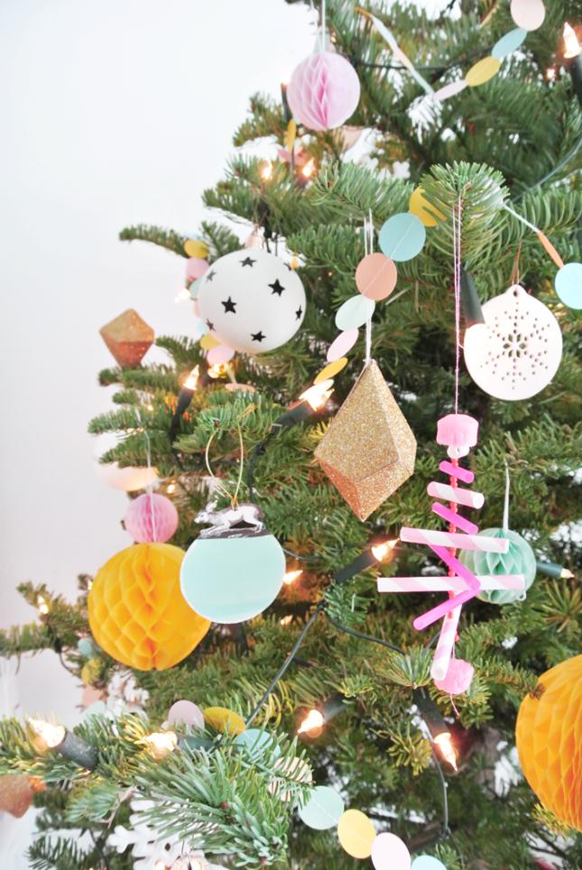 Ideas económicas para una Navidad en tonos pastel
