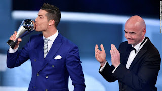 Cristiano Ronaldo Wins Best FIFA Men's Player Award Over Lionel Messi