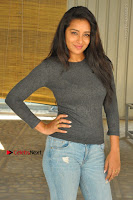 Actress Bhanu Tripathri Pos in Ripped Jeans at Iddari Madhya 18 Movie Pressmeet  0076.JPG