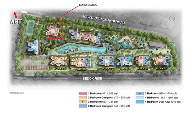 The Glades @ Tanah Merah Floor Plan