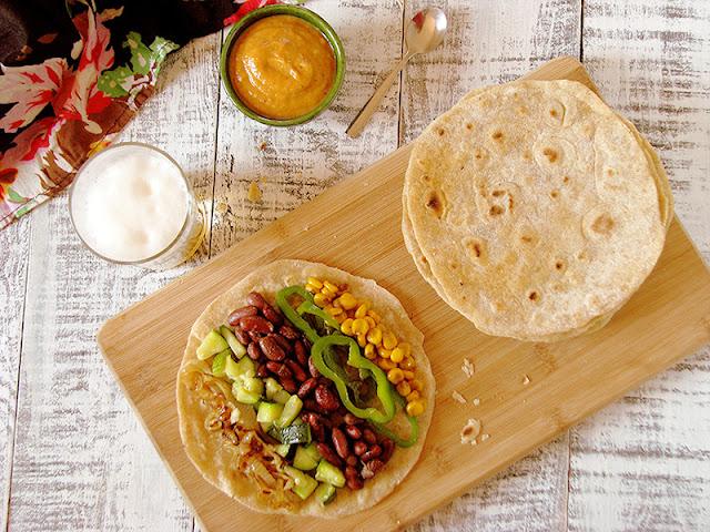 Tacos végétariens à la courgette, au maïs et aux haricots rouges - le carnet sur l'étagère