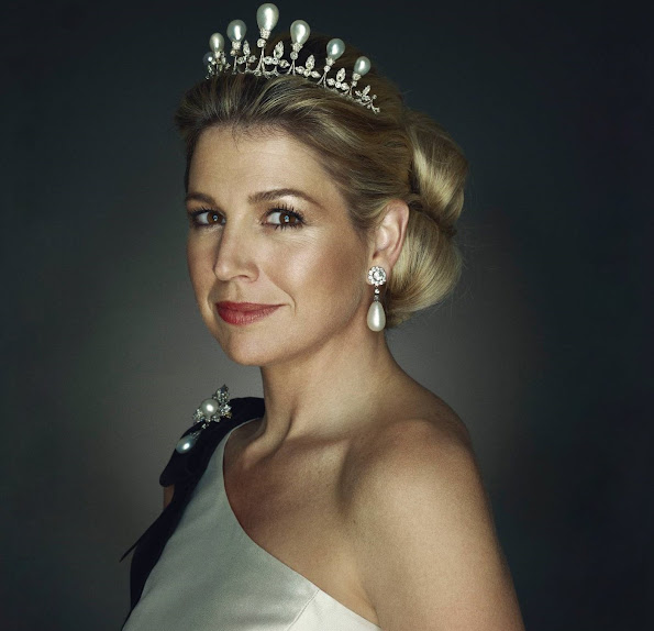 Happy 45th Birthday Dutch Queen Maxima of the Netherlands. Happy Birthday Queen Maxima. Maxima tiara, diamond tiara, earrings