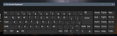 windows 10 tutorials onscreen keyboard mini keyboard view