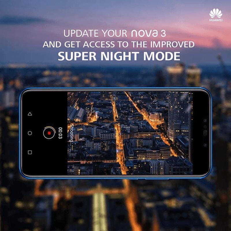 Huawei updates the Nova 3, now has the Super Night mode handheld long exposure!