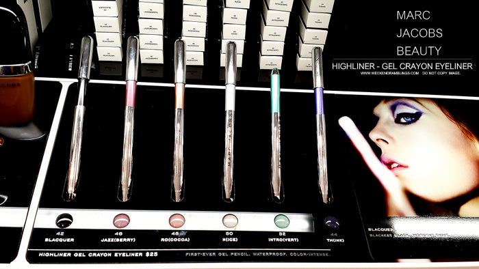Marc Jacobs Beauty Highliner Gel Pencil Eyeliner Crayon - Blaquer Jazzberry Ro cocoa Nice Introvert Think - Photos - Swatches