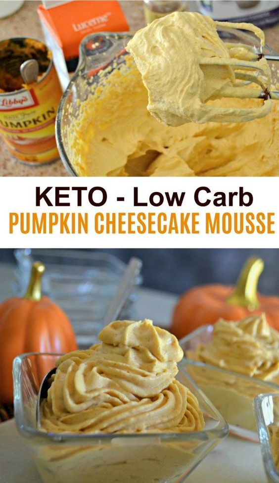 Whip Up This Keto Sugar-Free Pumpkin Cheesecake Mousse