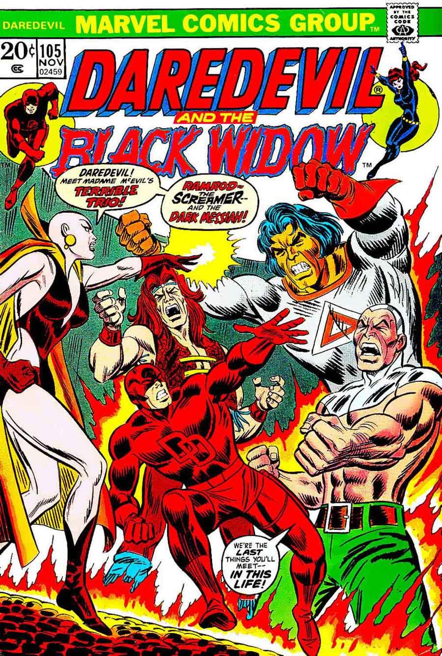 Daredevil v1 #105 marvel comic book cover