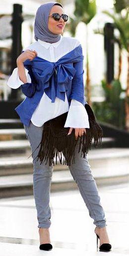 Baju Lebaran untuk cewek yang bisa dipakai dengan Hem Putih Cewek