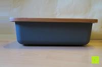 Seite: Brotkasten aus Bambusfaser mit Deckel aus Bambus | 42 x 23 x 12 cm | Bewahren Sie Ihr Brot luftdicht und hygienisch auf