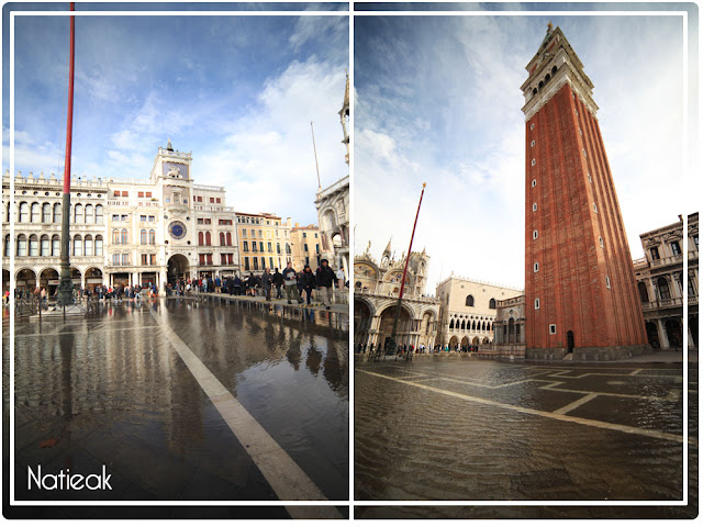 Place Saint-marc inondée (Venise, Italie)