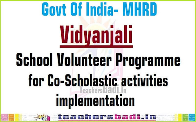 Vidyanjali,School Volunteer programme,co-scholastic activities implementation