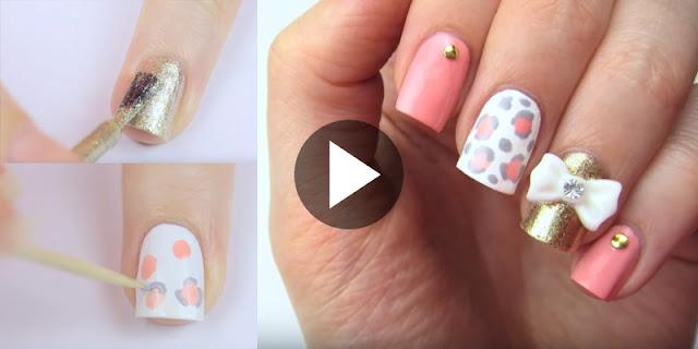DIY - How To Create Cute 3D Bow Nail Art, See Tutorial