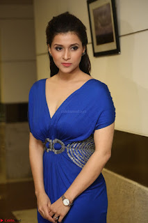 Mannara Chopra in Short Blue Dress at Rogue Movie Teaser Launch 1st March 2017 095.JPG