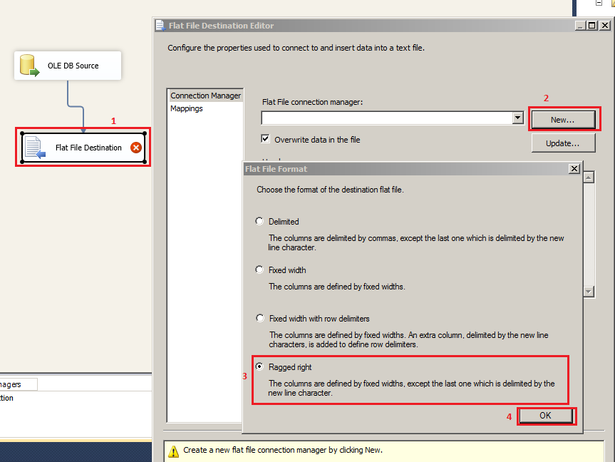 Welcome To TechBrothersIT: SSIS - How To Create Fixed Width