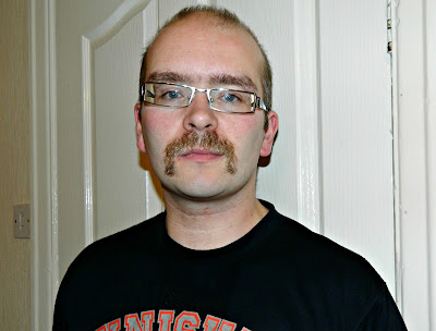 Movember Red Rose Daddy Handlebar Moustache