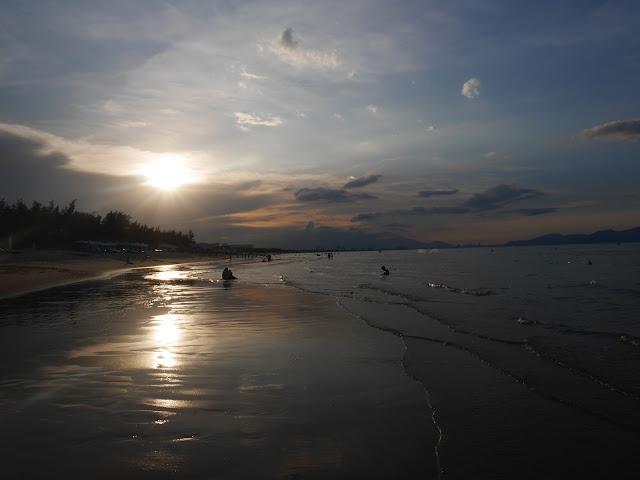 Beautiful An Bang beach in evening