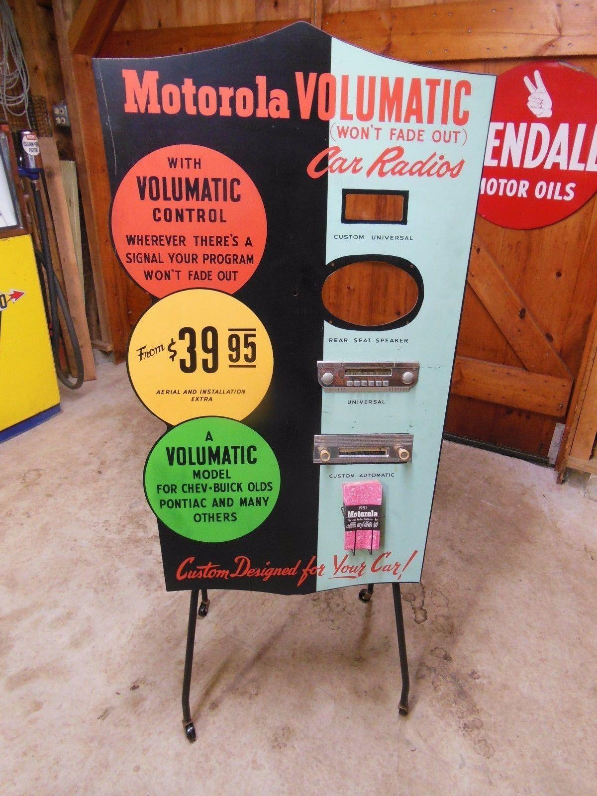 1951 dealer promotion display for the motorola volumatic car radio image ebay