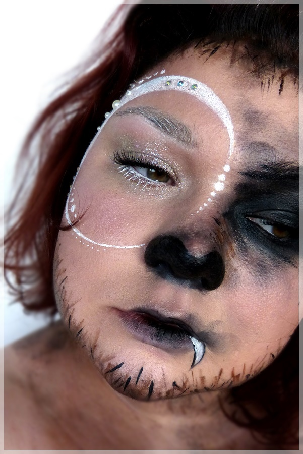kreativer wolf makeup look