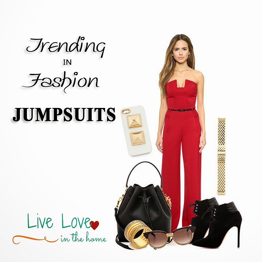 Trending in Fashion - Red Jumpsuits Outfit