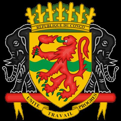 Coat of arms - Flags - Emblem - Logo Gambar Lambang, Simbol, Bendera Negara Republik Kongo