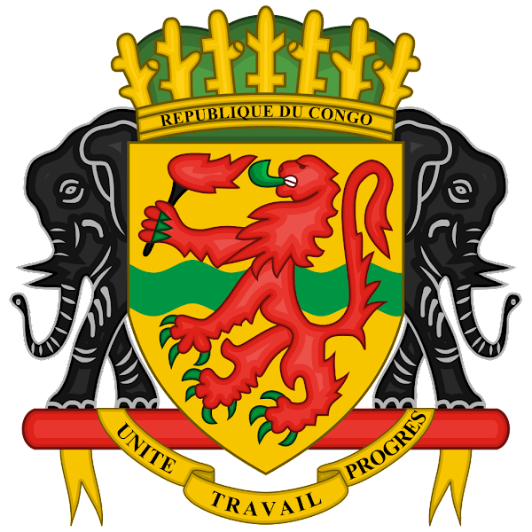 Logo Gambar Lambang Simbol Negara Republik Kongo PNG JPG ukuran 600 px