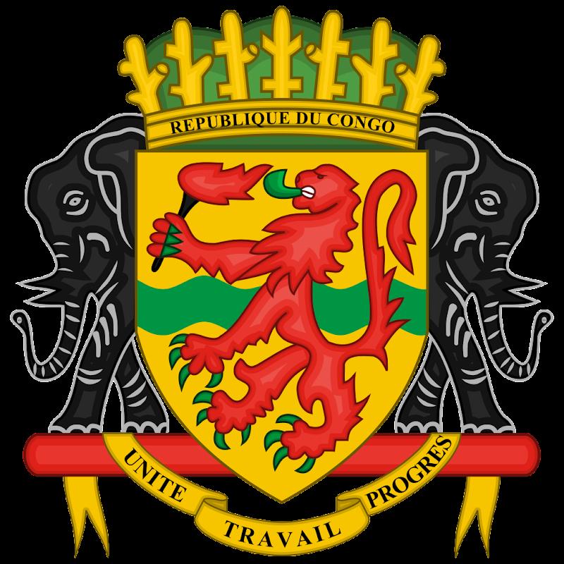 Logo Gambar Lambang Simbol Negara Republik Kongo PNG JPG ukuran 800 px