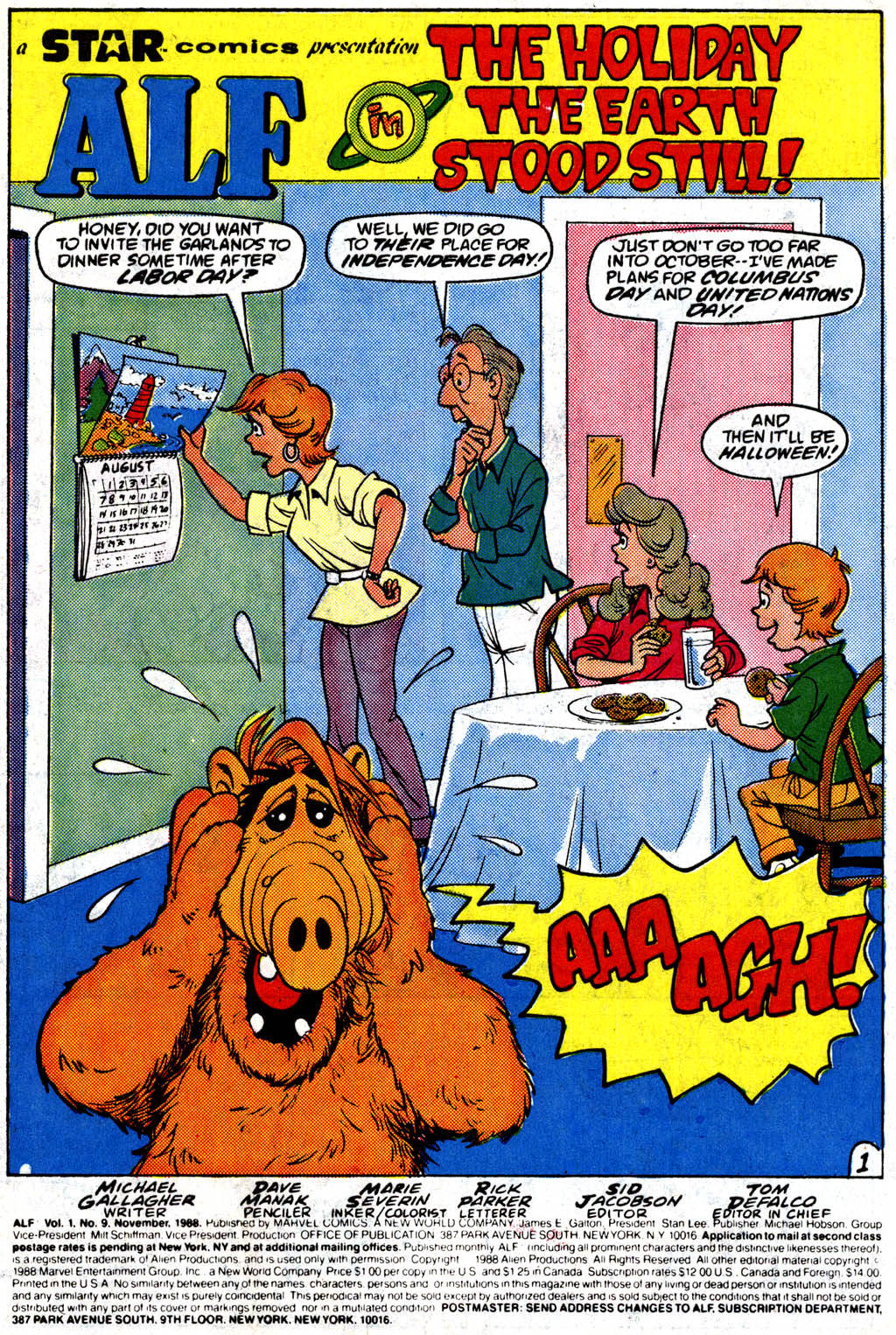 Read online ALF comic -  Issue #9 - 2
