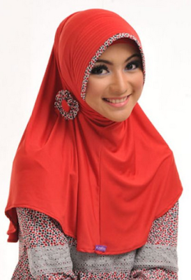 contoh model hijab simple dan praktis