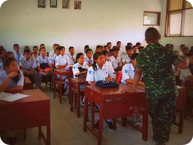 Danramil Piru Sosialisaikan Wawasan Kebangsaan dan Seleksi Anggota TNI-AD