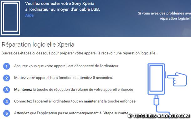 Réparation logicielle Xperia Companion
