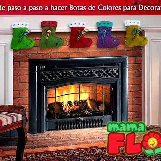 Decora tu casa en Navidad con estas Botas de Colores, aprende a hacerlo paso a paso