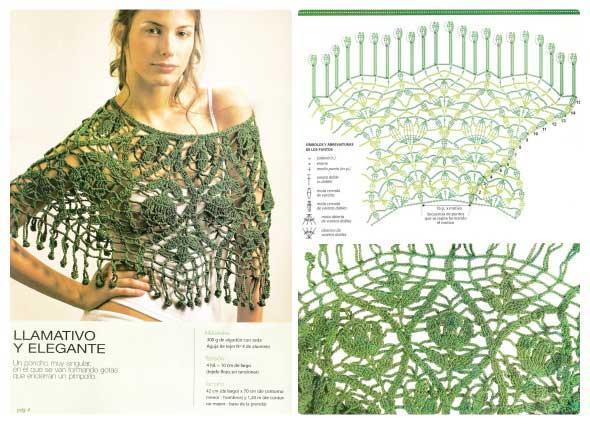 chal crochet, chal ganchillo, patrones para crochet