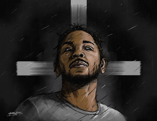 Kendrick Lamar Illustration Bokkaboom