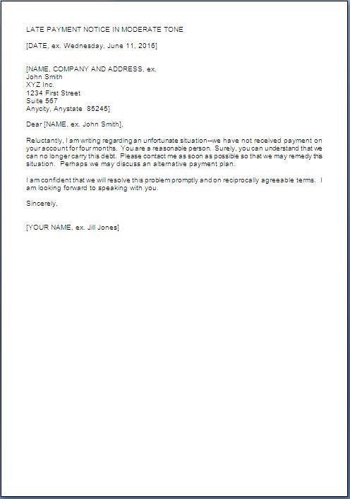 Payment Reminder Letter Format Free Download