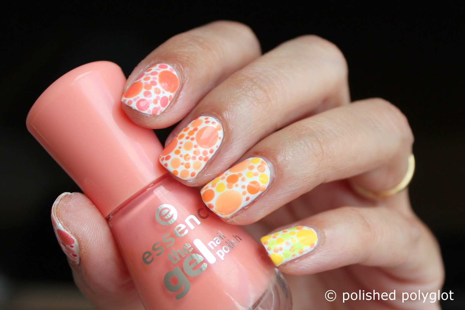Nail art Designs for short nails: Peach or lemon skittles ...