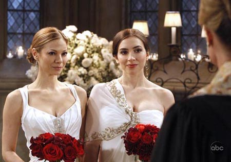 Lesbian wedding on tv