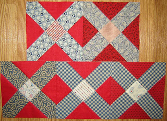 Civil War Quilts Block 3 Finishes Double Ties