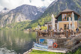 Aluguel de barcos para passeio no lago de Hallstatt, Austria