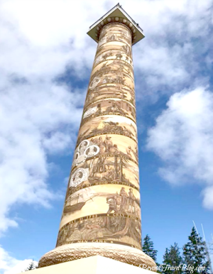 The Astoria Column in Oregon
