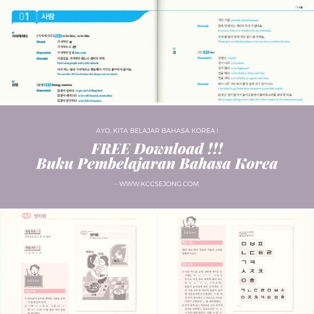 Free Download Buku Pembelajaran Bahasa Korea KCC Sejong Gratis