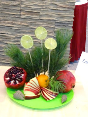 new year fruit arrangement japanese style