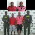 Tres capturados por extorsión