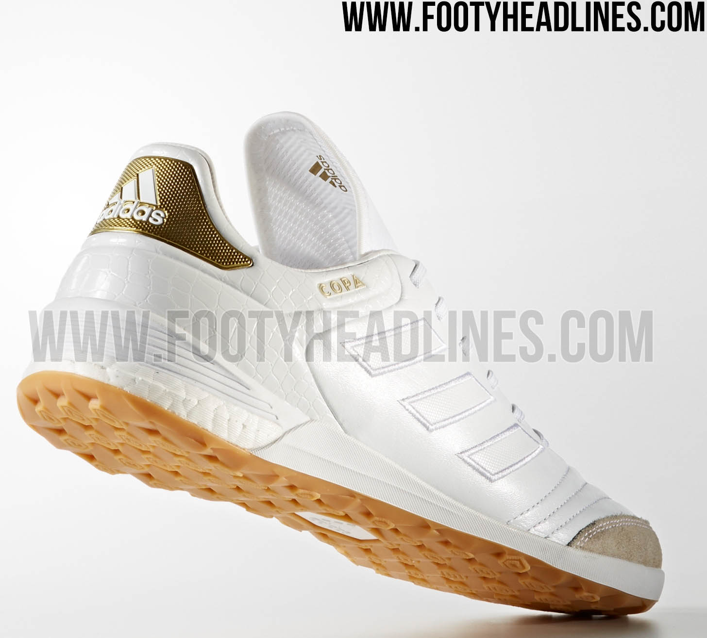 best website 5903d 153dd ... White Gold Metallic Awesome Adidas Copa Tango 17 Crowning Glory Boost  Boots Released - Footy Headlines ...