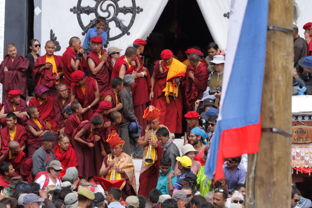 The start of the Hemis Monastery Festival dance performances
