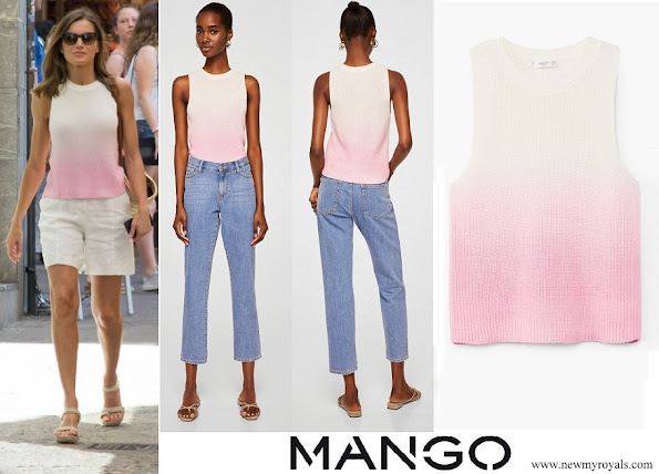 Queen Letizia wore Mango top