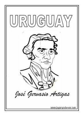 Dibujo para colorear de José Gervasio Artigas