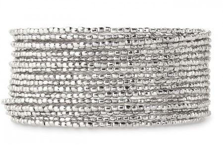 Stella & Dot Silver Bardot Spiral Bangle