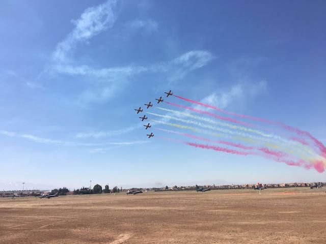 La Patrulla Águila realiza en Marrakech su 1ª exhibición internacional de la temporada