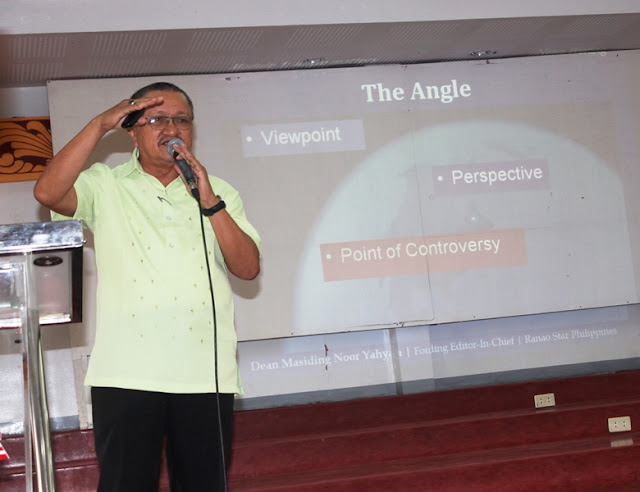 Ranao Star chief presents a News Writing workshop in MSU-IIT